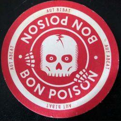 DESSOUS DE VERRE A BIÈRE : Dessous de verre à bière Bon Poison de diamètre 9 cm