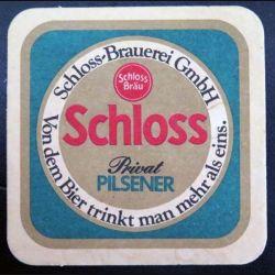 DESSOUS DE VERRE A BIÈRE : Dessous de verre à bière Schloss Brauerei Gmbh de dimension  9 cm