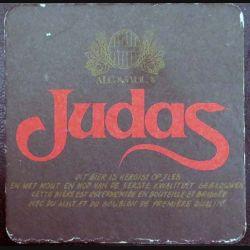 DESSOUS DE VERRE A BIÈRE : Dessous de verre à bière Judas de dimension  9,3 cm