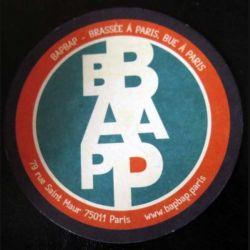 DESSOUS DE VERRE A BIÈRE : Dessous de verre à bière BAP BAP de diamètre 10,5 cm