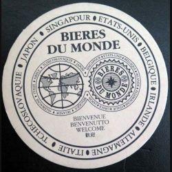DESSOUS DE VERRE A BIÈRE : Dessous de verre à bière Bières du Monde de diamètre 10,5 cm