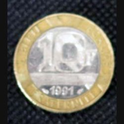 FRANCE : pièce de 10 francs français Génie de la Bastille 1991