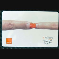 TELECARTE : télécarte mobicarte 15 euros Orange 06/2003