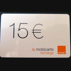 TELECARTE : télécarte mobicarte 15 euros Orange 10/2004