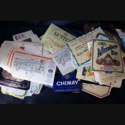 ETIQUETTES DE VIN : Plus de 350 étiquettes de bière et de vin diverses et variées avec quelques doublons (C152)