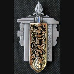1° BRM : insigne métallique du 1° bataillon