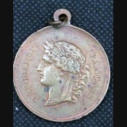 MEDAILLE : médaille du souvenir du tirage au sort de la classe 1876 de diamètre 3,5 cm en bronze