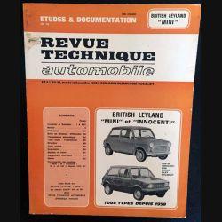 "1. Revue technique automobile British Leyland ""mini"" et ""innocent"" tous type depuis 1959"