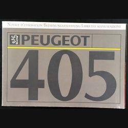 1. Notice d'utilisation Peugeot 405
