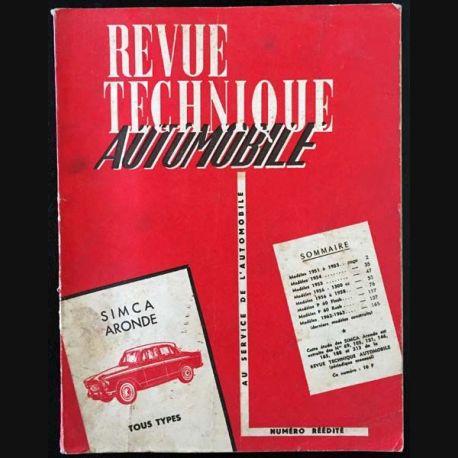 1. Revue technique automobile Simca aronde tous types