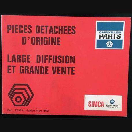 1. Pièces détachées d'origine large diffusion et grande vente Edition Mars 1972