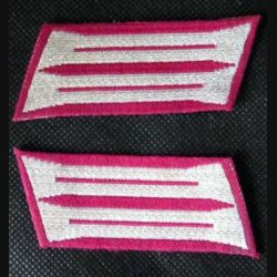 MILITARIA : insigne tissu de col allemand
