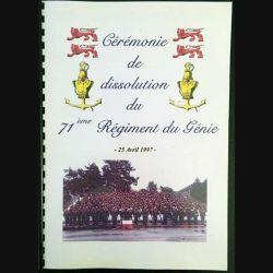 1. Cérémonie de dissolution du 71ème régiment du Génie - 25 avril 1997