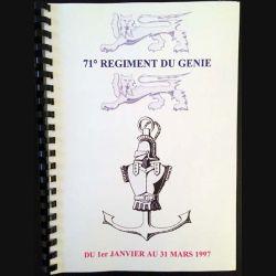 1. 71° régiment du génie du 1er janvier au 31 mars 1997