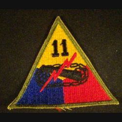 USA : 11° Armored division US army patch