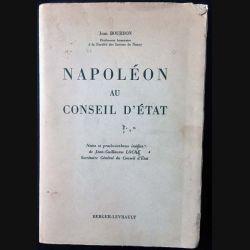 1. Napoléon au conseil d'État de Jean Bourdon aux éditions Berger-Levrault