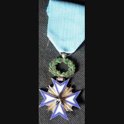 BENIN : médaille de chevalier de l'étoile noire du Bénin en émail et en argent