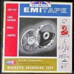 Bande magnétique d'enregistrement de fabrication EMI de longue durée (C61)