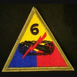 USA : 6° Armored division US army patch
