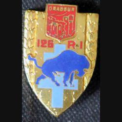 126° RI : insigne métallique du