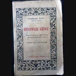 1. Béatrice Cenci de Corrado Ricci aux éditions librairie Perrin et Cie 1926