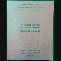 1. 96è congrès national des sociétés savantes Toulouse, 13-17 avril 1971