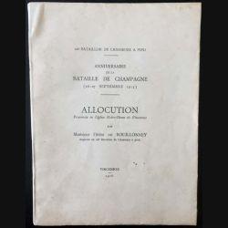 1. Anniversaire de la bataille de Champagne (26-27 Septembre 1915)