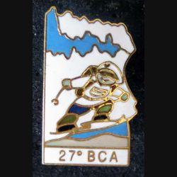 27° BCA : pin's métallique du 27° bataillon de chasseurs alpins de fabrication Alpes trophées