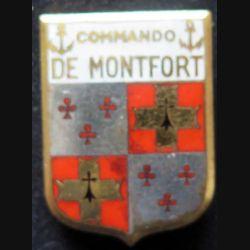 COMMANDO : insigne métallique du commando de Montfort type 2 de fabrication Augis en émail
