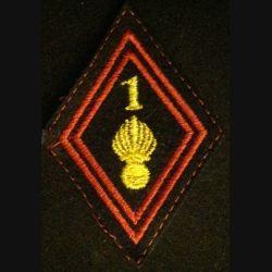 LOSANGE DE BRAS MODÈLE 45 : 1° régiment d'infanterie cadre
