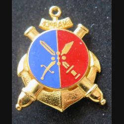 43° RAMA :  Insigne métallique du 43° régiment d'artillerie de marine de fabrication Fraisse G. 2044