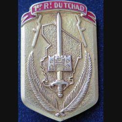 TCHAD : insigne métallique du 1° régiment du Tchad de fabrication Drago