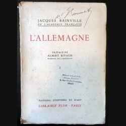 1. L'Allemagne Tome 1 de Jacques Bainville aux éditions Librairie Plon