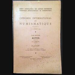 1. Congrès international de numismatique Paris 6 - 11 juillet 1953 Tome deuxième de Jean Babelon et Jean Lafaurie