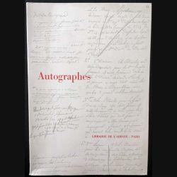 1. Autographes - Documents Manuscrits aux éditions Librairie de L'Abbaye