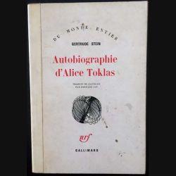 1. Autobiographie d'Alice Toklas de Gertrude Stein aux éditions Gallimard