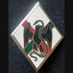 1° REI : insigne métallique du 1° régiment étranger d'infanterie de fabrication Drago