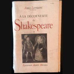1. À la découverte de Shakespeare Tome 1 de Abel Lefranc aux éditions Albin Michel