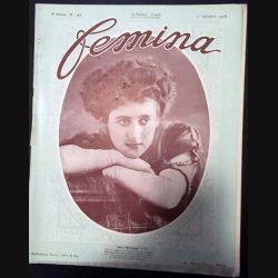 1. Femina n°185 - 1er Octobre 1908 aux éditions Pierre Lafitte & Cie