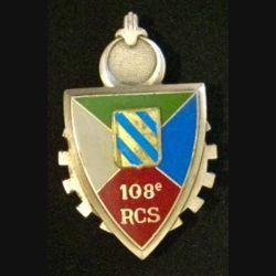 108° RCS : insigne métallique du 108° régiment de commandement et des services de fabrication Delsart 3004