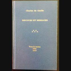 1. Discours et messages Tome 5 Vers le terme 1966 - 1969 de Charles de Gaulle aux éditions Plon