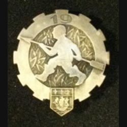 19° ET : insigne métallique du 19° escadron du train de fabrication Drago Paris Béranger tout métal 1945