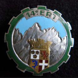 14° ERT : insigne du 14° Escadron Régional du Train de fabrication Drago Béranger en émail boléro lisse