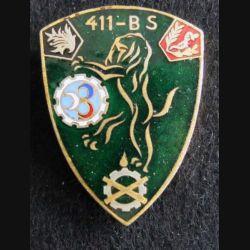 411° BS : 411° Bataillon des Services  n Arthus Bertrand G. 1823   émail