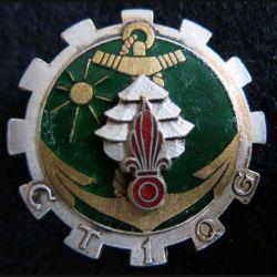 1° CTQG : 1° compagnie de transport et de quartier général Arhus Bertrand en émail