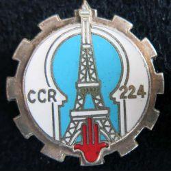 224° CCR : 224° compagnie de circulation routière Drago Paris G. 1315 en émail