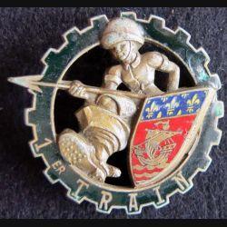1° RT : 1° régiment du Train de fabrication Drago Paris H. 382 en émail