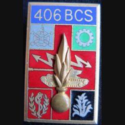 406° BCS : 406° Bataillon de Commandement et Services Arthus Bertrand G. 2283 émail