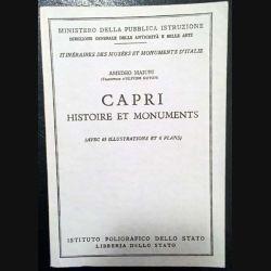 1. CAPRI Histoire et monuments n°93 de Amedeo Maiuri aux éditions La Libreria Dello Stato - Roma