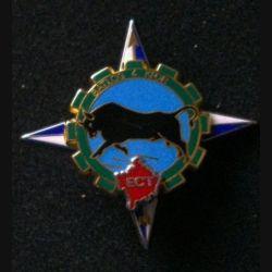 TRAIN : insigne de l'escadron de circulation du train de l'opération Trident du bataillon logistique 4 de la Kosovo Force KFOR de fabrication Boussemart 2001